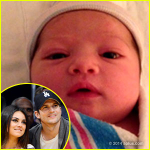 ashton kutcher baby, mila kunis baby