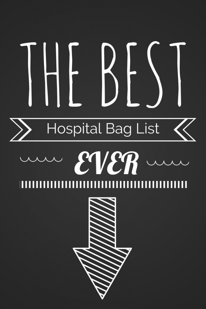 The Best Hospital Bag List Ever
