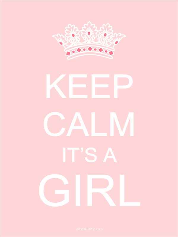 Keep Calm It's A Girl Gender Reveal