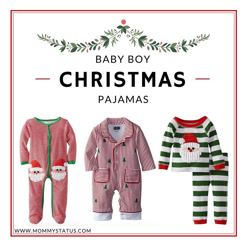 baby boy pajamas, holiday pajamas, baby pajamas