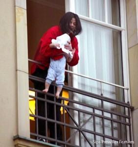 Micheal Jackson Dangles Baby Off Balcony