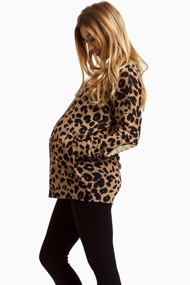 Pink Blush Maternity Leapord
