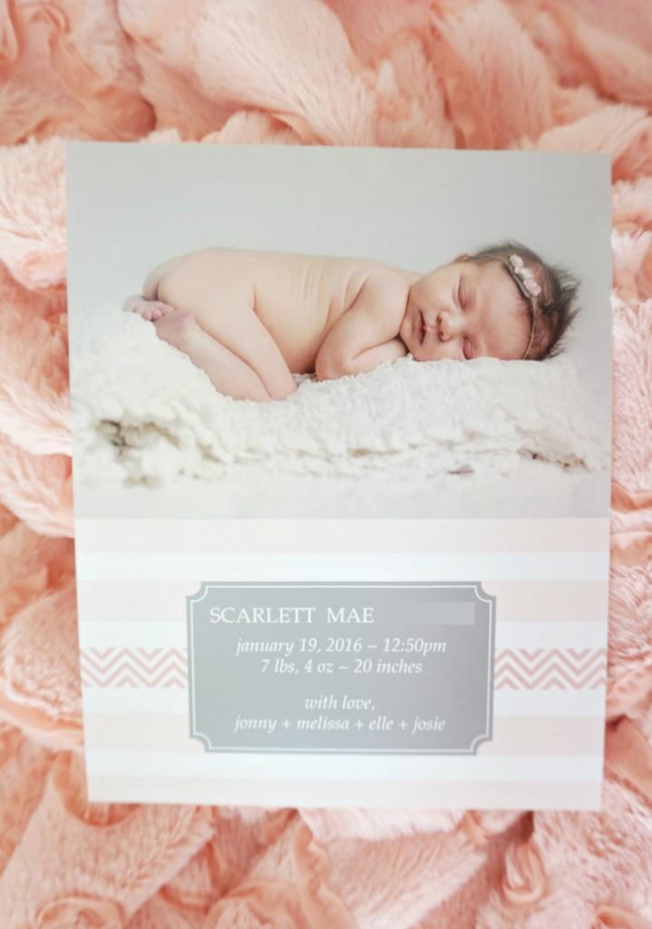 Birth Announcement Scarlett