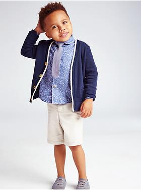 V-Neck Cardigan Little Boy