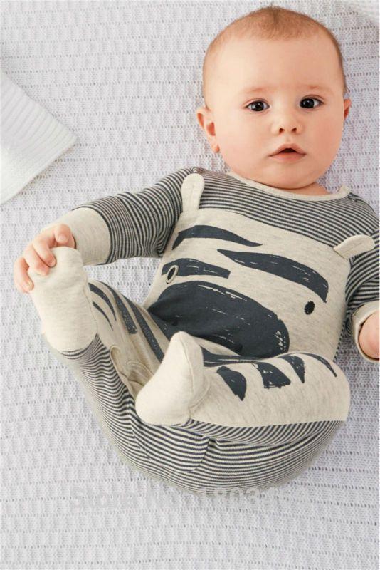 Zebra romper little boy