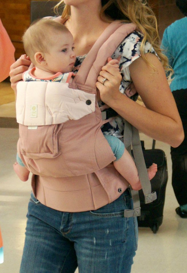 Airport LILLEbaby Organic Cotton Carrier