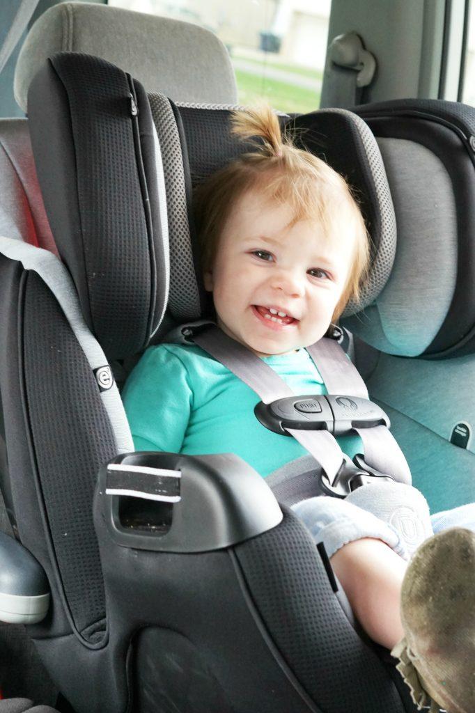 Evenflo Symphony Car Seat Black Grey